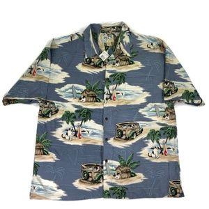 Big Dogs Mens 3X Hawaiian Woodie Wagon Shirt